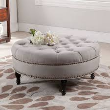 latest round upholstered coffee table best ideas about ottoman on ottomans tufted