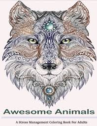 pictures to colour in for adults. Beautiful Colour Amazoncom Awesome Animals Adult Coloring Books A Stress Management  Book For Adults 9781515077831 Books Books  Pictures To Colour In