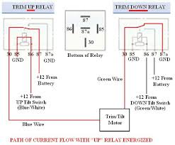 troubleshooting, testing and bypassing spdt power trim tilt relays Fisher Snow Plow Wiring Diagram picture of troubleshooting, testing and bypassing spdt power trim tilt relays for boats