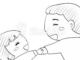 手を握る2白黒イラスト No 1095080無料イラストならイラストac