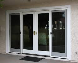 image of sliding french doors with blinds