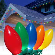 C9 Lights Walmart Holiday Time Ultra Bright Led C9 Christmas Lights Ceramic Multi 25 Count Walmart Com