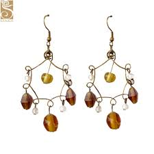 chandelier glass earring 0073 fast delivery ready stock earrings