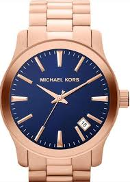 michael kors mens mk7065 rose gold tone blue face watch 200 michael kors mens mk7065 rose gold tone blue face watch 200