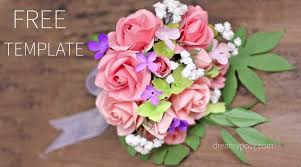 Paper Flower Bouquet Tutorial How To Make Rose Paper Bouquet Free Template And Full Tutorial
