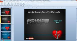 downloading powerpoint templates free animated powerpoint template with heart cardiogram animation
