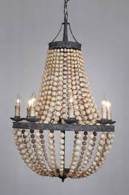 turquoise wood bead chandeliers within recent wood bead chandelier glamorous diy the block mud elena pottery