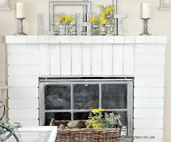 Adding Early Spring Decorations To The Fireplace Mantel