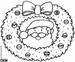 Kleurplaten Kerst Kransen En Guirlandes Kleurplaat