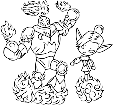Small Picture Skylanders Blast Zone and Mini Jini coloring page Free Printable