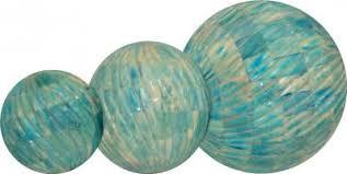 Decorative Sphere Balls 60 Spiral Cut Bone Inlaid decorative Ball Sphere Blue 32
