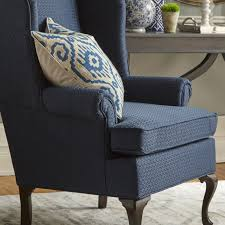 blue wingback chair. Palmdale Wingback Chair Blue A