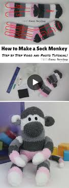 how to make a sock monkey tutorial