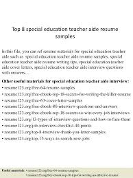 special education aide resume top 8 special education teacher aide resume  samples in this file you