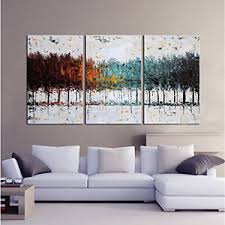 image is loading 3 piece set oil on canvas painting abstract  on modern canvas painting wall art with 3 piece set oil on canvas painting abstract wall art large modern