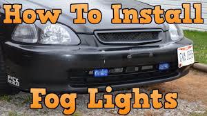 How To Install Fog Lights On Honda Civic 2005 1996 Honda Civic How To Install Fog Lights