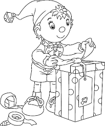 Awesome Christmas Elf Coloring Page Special