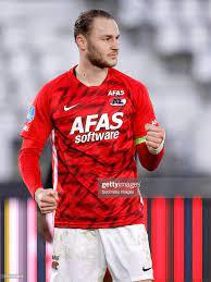 Teun Koopmeiners of AZ Alkmaar celebrates 4-2 during the Dutch...  Nachrichtenfoto - Getty Images