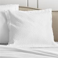 Washed Organic Cotton Coverlets and Euro Sham | Crate and Barrel &  Adamdwight.com