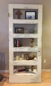 old door made into a shelf