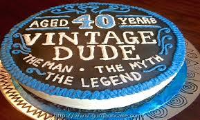 40th Birthday Cake For Him Babyplanet