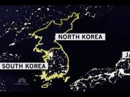 Znalezione obrazy dla zapytania north south korea at night