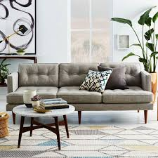 Delightful ... West Elm Living Room Ideas Peggy Sofa Pillows And Round White Table  Creative With Plants Stylish ... Nice Ideas