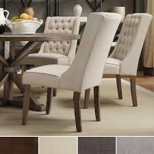 furniture wingback chair dining table marvelous nailhead high back wooden comfor and stylish slipcovered s for