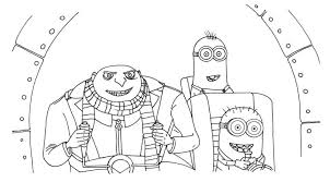 Small Picture Print Gru And Minions Despicable Me Coloring Pages or Download Gru