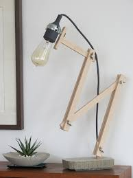 My Last Diy Project Concrete Wooden Desk Lamp By M Laaser