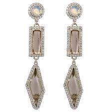 badgley mischka crystal chandelier clip earrings