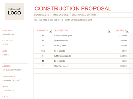 Construction Bid Sheet Template : Oninstall