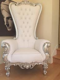 Ornate Bedroom Chairs Absolom Roche Chair Silver White Leatherette Client Photo