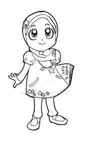 Little Lady Muslim 4 By Didihime On Deviantart Muslim Girl Coloring