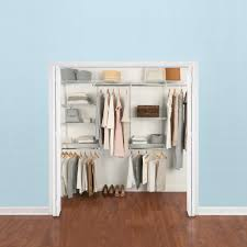 h configurations custom metal closet system 4 8 ft white deluxe kit