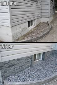 give your exterior a neat look with our windsor slate stone wall panels in pewter it s an attractive foundation cover for better curb appeal and