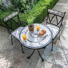 sunbury metal round garden bistro set