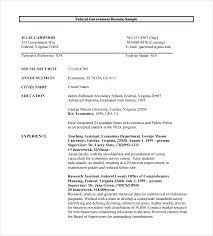 Resume Format Guidelines Government Resume Format Federal Resume Format Federal Resume