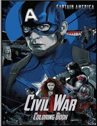 Captain america is a super human, endowed with super powers, he is unusually strong, agile, flexible and very smart. Captain America Civil War Coloring Book Coloring Book For Kids And Adults With Fun Easy And Relaxing Coloring Pages By Linda Johnson