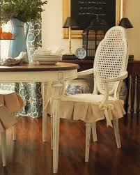 5 dining room white ivory fabric seat cover with ruffle skirt slipcovers for parsons chairs