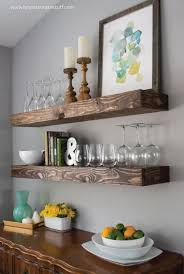 Cool DIY Dining Room Floating Shelves