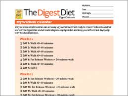 Digest Diet Workout Calendar | Reader's Digest