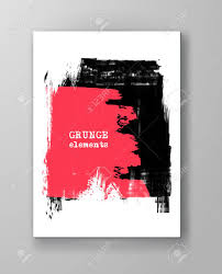 2 Color Poster Design Two Color Abstract Design Ink Paint On Brochure Color Element