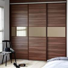 wooden brown sliding door polished