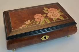 roses inlay matte burl elm al jewelry box