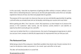 Getting Job Offer Show You How To Get A Job Without A Resume And Cover Letter By