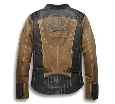 harley davidson women s gallun leather riding jacket triple vent system coolcore