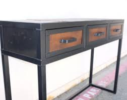 industrial style office desk modern industrial desk. Industrial Desk. Vintage Style Table. Reclaimed Wood And Steel I-beam Desk, Office Furniture With Rivets. Customization Avail Desk Modern