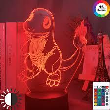 Kids Red Night Light Us 9 34 15 Off 3d Optical Kids Led Night Light Game Pokemon Go Charmander Figure Nightlight For Child Bedroom Decoration Table Lamp Bedside On