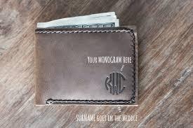monogram wallet leather wallet 024